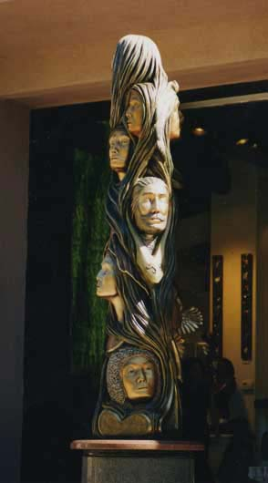 Bronze Totem Sculpture