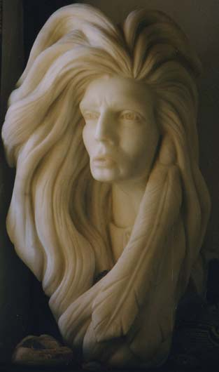 Buffalo Woman Sculpture