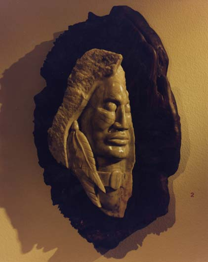 Half Face Sculpture