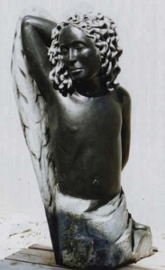 Boy Angel Sculpture